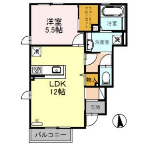 ウエスト・ビレッジ101号室 [1LDK]