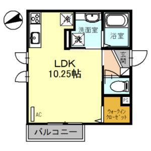 ブロッサム101号室 [1R]