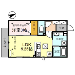 Lapieil101号室 [1LDK]