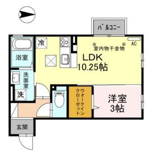 グランツ103号室 [1LDK]