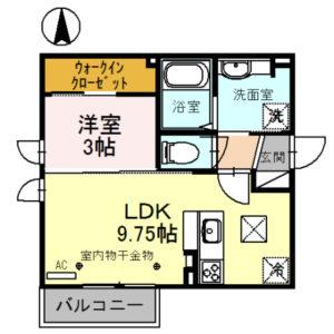 ナインスリー101号室 [1LDK]