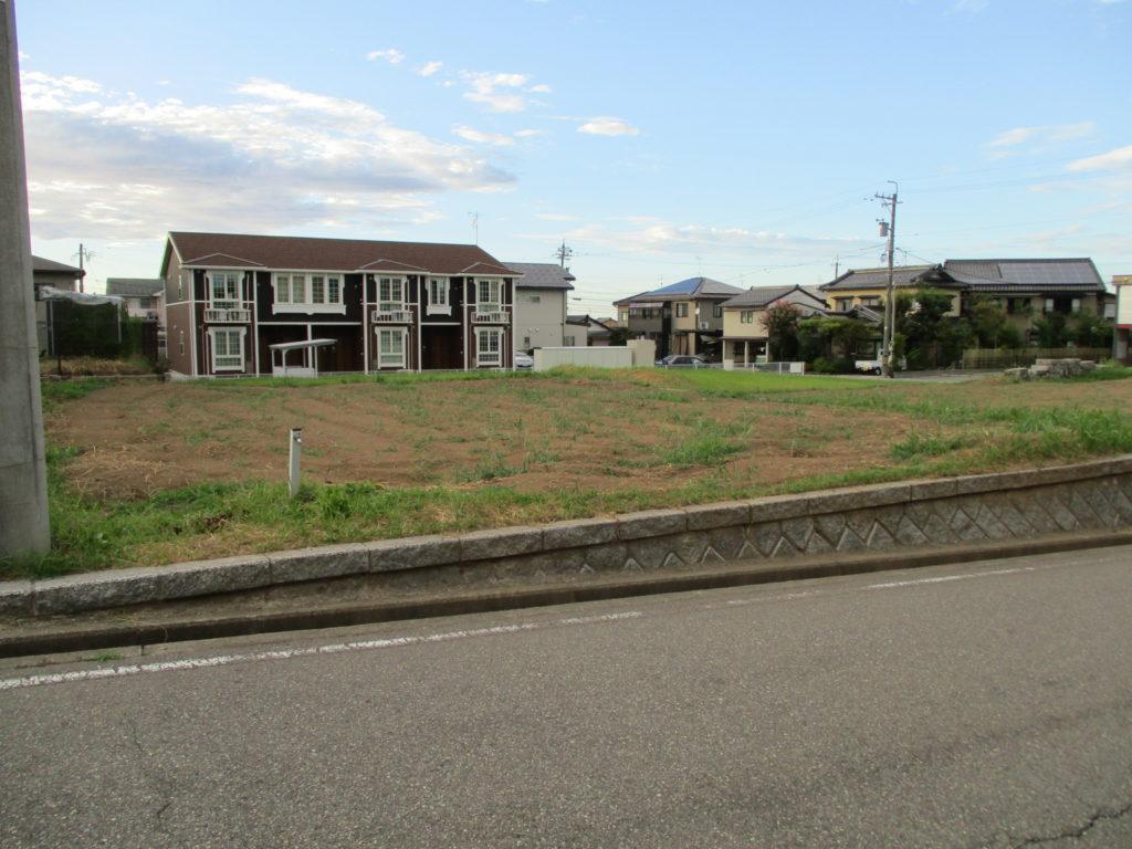 以前に区画整理された住宅地